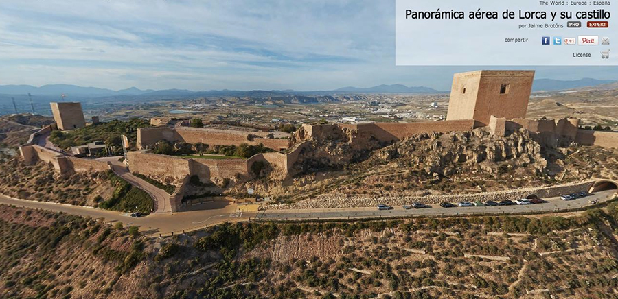 Pano esférica de Castillo de Lorca. Jaime Brotons