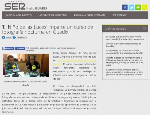 'El Niño de las Luces' imparte un curso de fotografía nocturna en Guadix