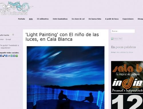 Light Painting con El niño de las luces, en Cala Blanca